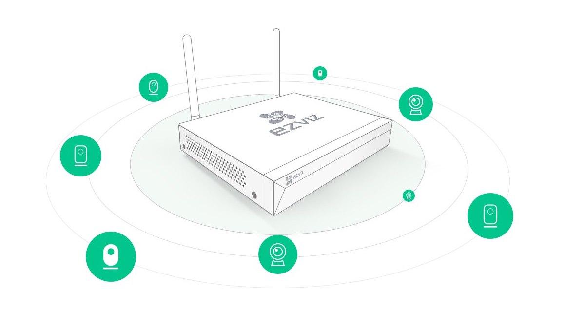 EZVIZ ezWireLess Full HD WiFi CCTV NVR Kit - 8ch/4cam