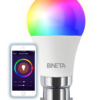 BNETA IoT Smart WiFi LED Bulb Plus – B22 (8.5W, Colour RGB + Warm/Cool White)