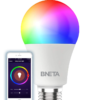 BNETA IoT Smart WiFi LED Bulb Plus – E27 (8.5W, Colour RGB + Warm/Cool White)